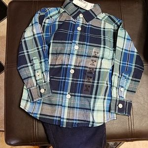 Cute warm little guy outfit w lined pants.